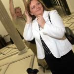 27.09.2006 Wraszawa , Sejm . Posłanka Samoobrony Renata Beger po ujawnieniu nagrania , na którym posłowie PiS proponują jej przejście z Samooobrony do Prawa i Sprawiedliwości .