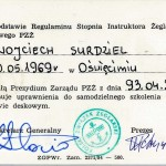 Patent Instruktora Żeglarstwa Deskowego nr 142.