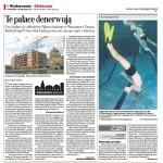 """Zajęcia basenowe Klubu Płetwonurków """" Nereus """" - Gazeta Stołeczna - listopad 2007."""