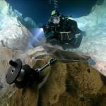 Ewa w jaskini Grotta del Fico, Sadynia wrzesień 2009.