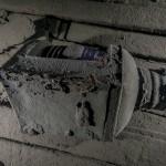 """Lampa nawigacyjna na pokładzie wraku """" Belliver """" - czerwiec 2012."""