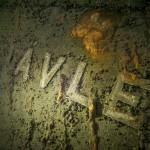 """Wrak """" Gavle """" bez literki """"G"""" - czerwiec 2012."""