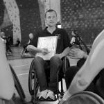 Trener reprezentacji Polski Christoph Werner jeździ na wózku po ciężkim wypadku samochodowym Fot. Wojciech Surdziel / Agencja Gazeta